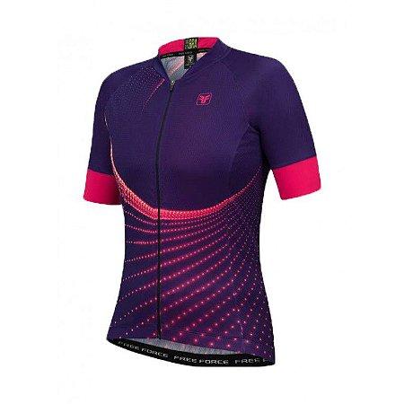 Camisa Ciclismo Feminina FREE FORCE Sport Tweak Roxa - TAM. P