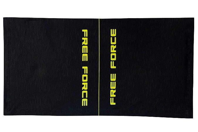 Bandana Unissex FREE FORCE Line Preto/Amarelo