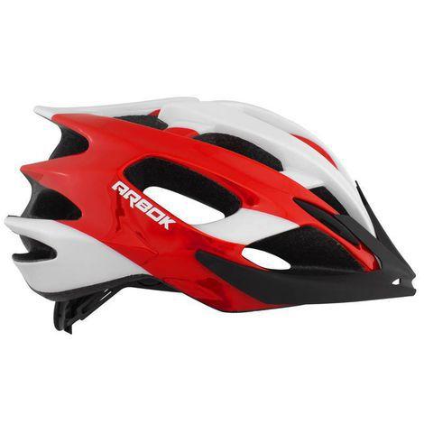 Capacete Ciclismo ARBOK Escalera Vermelho/Branco -TAM 58-62