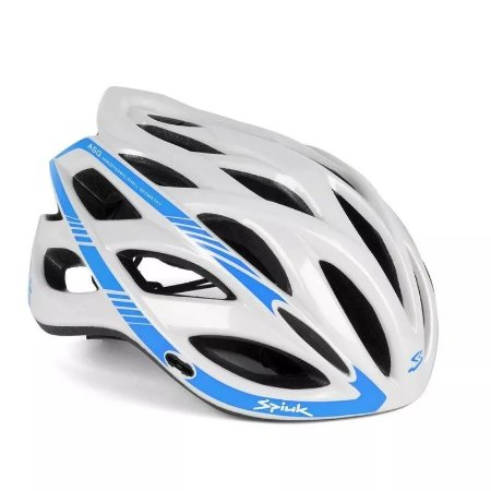 Capacete Ciclismo SPIUK Keilan Branco/Azul TAM. 57 - 61