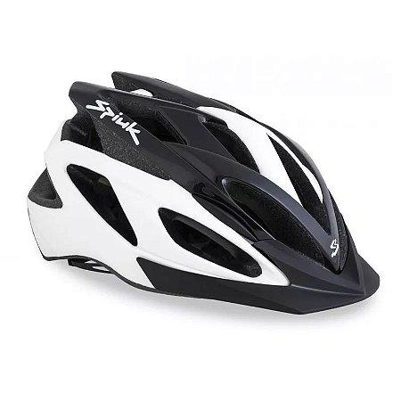 Capacete Ciclismo SPIUK Tamera Lite Branco/Preto TAM 52 58
