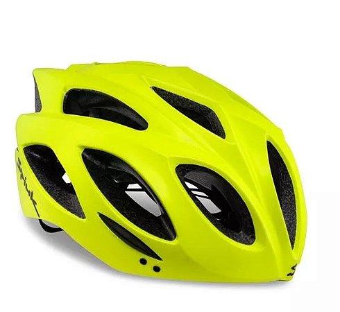 Capacete SPIUK Rhombus Amarelo Fluor - TAM. 58 - 62