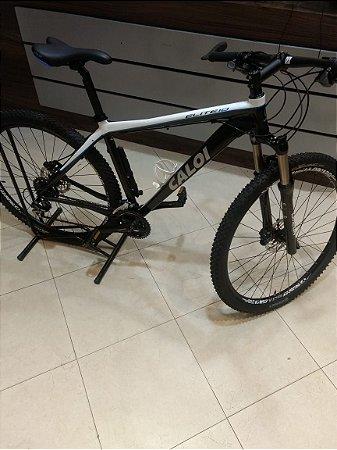 Bicicleta CALOI Elite 10 29x17 Branco/Azul - semi-nova