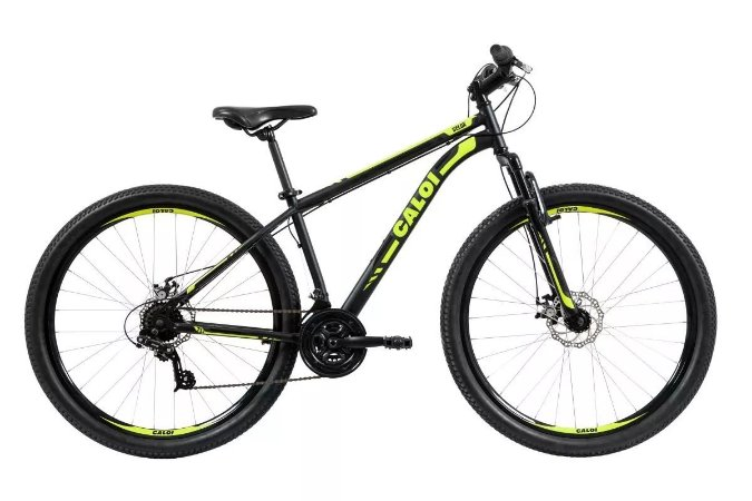 Bicicleta CALOI Velox Aro 29/ 21V Preto/Amarelo - TAM. 17