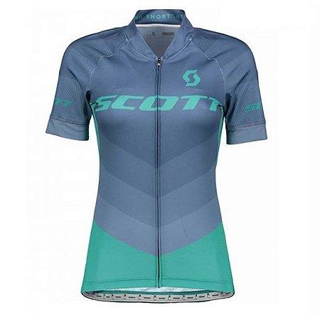 Camisa Ciclismo Feminino SCOTT Azul - TAM. M