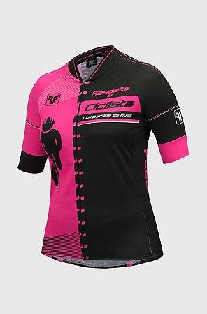 Camisa Ciclismo Feminina FREE FORCE Transit Rosa - TAM. G