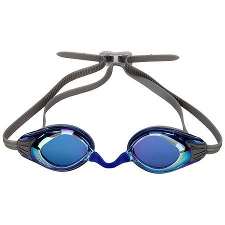 Óculos de Natação SPEEDO Aquashark Cinza/Azul Espelhado