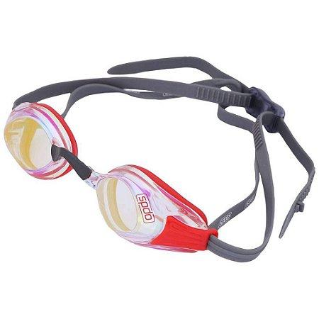 Óculos de Natação SPEEDO Aquashark Vermelho Cristal Espelhado