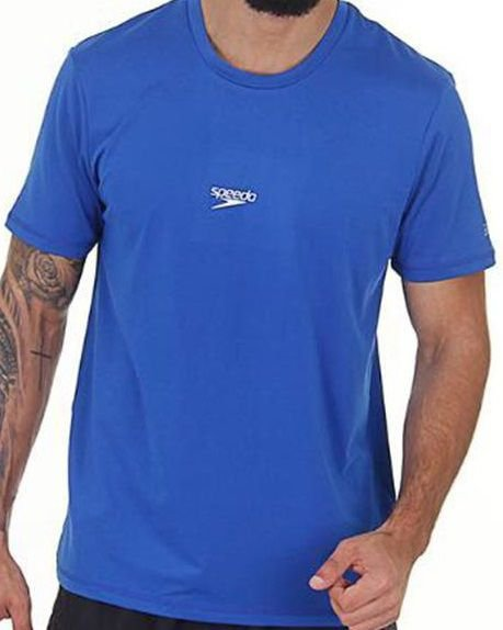 Camisa Masculina SPEEDO Basic Stretch Royal - TAM. P