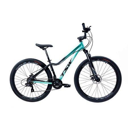 Bicicleta TSW Posh Aro 29/21V Turquesa/Cinza - TAM. 15.5