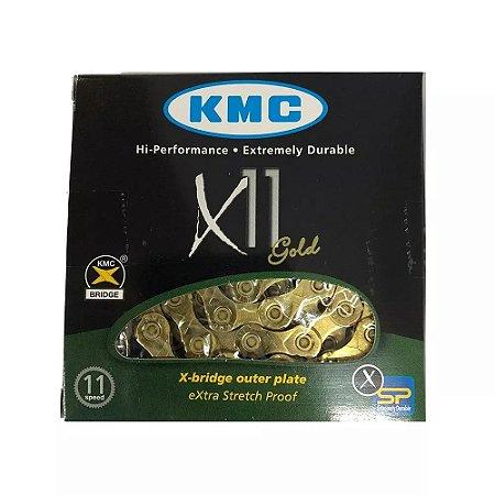 Corrente Kmc X11 Gold 11v 116 Link - acompanha link de emenda