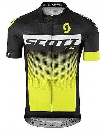 Camisa SCOTT RC Preto/Branco/Amarelo - TAM. G