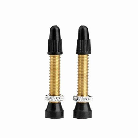 Válvula Presta para Pneu Tubeless 40mm Preto - Unidade