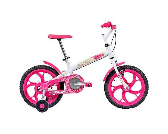 Bicicleta Infantil CALOI Ceci Aro 16 Branco/Rosa