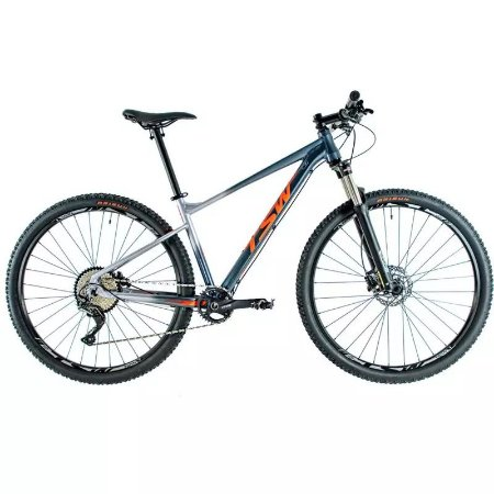 Bicicleta TSW Hurry Aro 29/ 11V Cinza/ Vermelho - TAM. 17