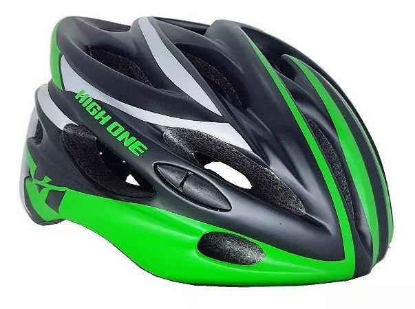 Capacete HIGH ONE Bike MTB Volcano com Luz Preto/Verde