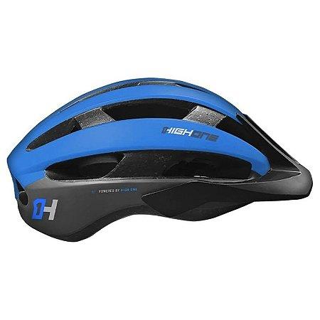 Capacete HIGH ONE Bike MTB/Speed Wind Aero Preto/Azul  - Tam. M