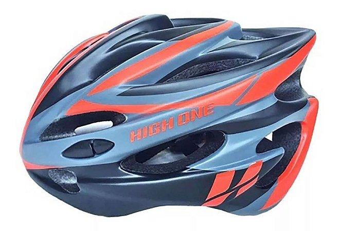 Capacete HIGH ONE Bike MTBcom Luz Preto/Vermelho - Tam. M