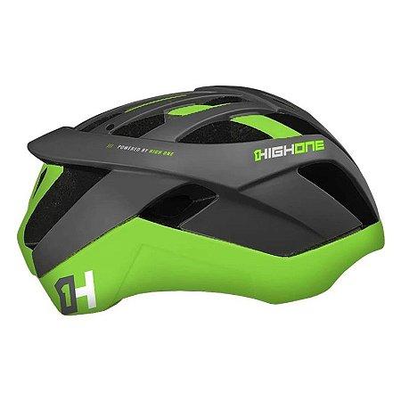 Capacete HIGH ONE Bike MTB Pro-Space Cinza/Verde - Tam. M
