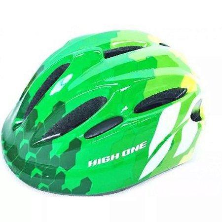 Capacete HIGH ONE Bike Infantil Piccolo New Verde/Cinza - Tam. P