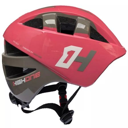 Capacete HIGH ONE Bike Baby Rosa/Cinza - Tam. P