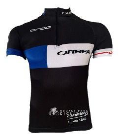 Camisa Masculina ORBEA Preta/Azul/Branca - Tam. G