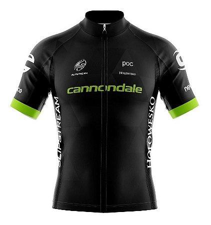 Camisa Masculina Cannondale Preta/Verde - Tam. G