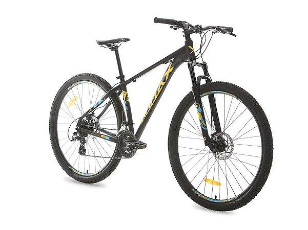 Bicicleta AUDAX Havok NX Aro 29/ 24V Preto/Amarelo/Azul - Tam. 19