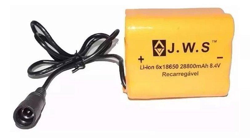 Bateria JWS para Farol Recarregável Preto