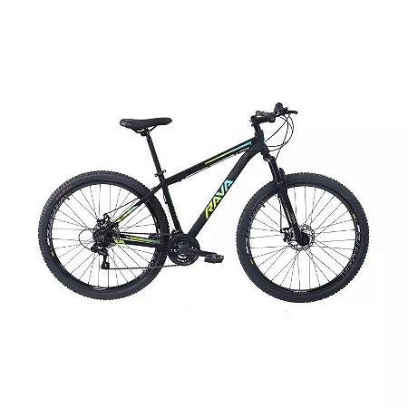 Bicicleta RAVA Pressure 2020 Aro 29/21V Preto/Verde/Azul - Tam. 17
