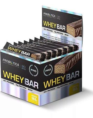 Barra de Proteina PROBIOTICA Whey Bar Banana - 24 UN
