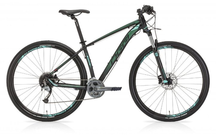Bicicleta OGGI Big Wheel 7.1 Aro 29/27V Preto/Verde - Tam. 17