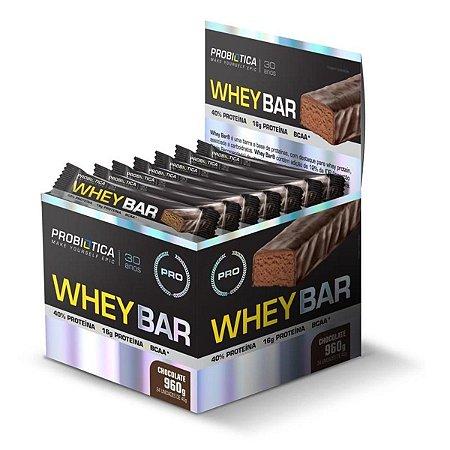 Barra de Proteina PROBIOTICA Whey Bar Chocolate - UN