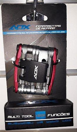 Kit de Ferramentas AUDAX Canivete 18 funções - Vermelho