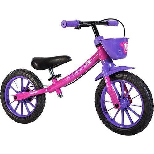 Bicicleta NATHOR Balance Feminina - Rosa/ Lilás