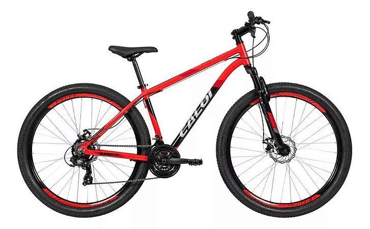 Bicicleta CALOI Supra Aro 29/ 21V Vermelho - Tam. 17