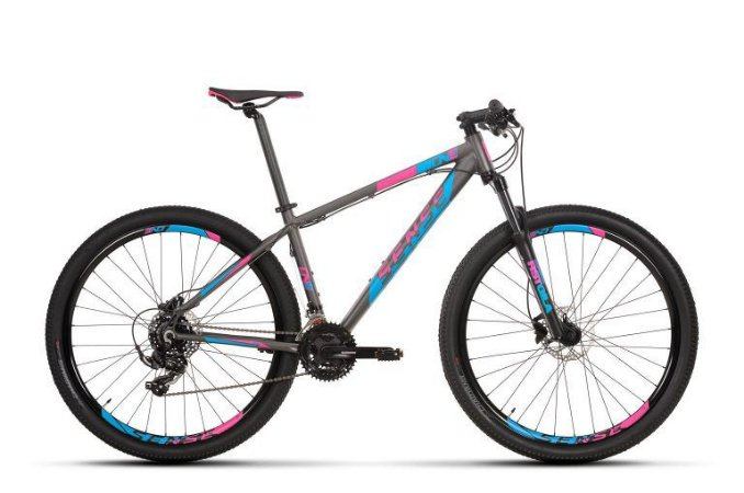 Bicicleta SENSE One 2020 21V Rosa/Cinza- Tam. 15