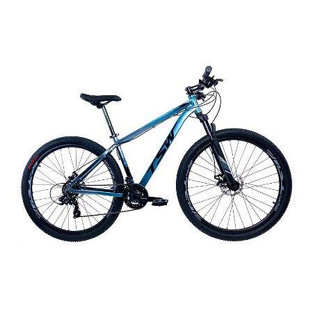 Bicicleta TSW Ride Aro 29/21V Azul/Cinza  - Tam. 17