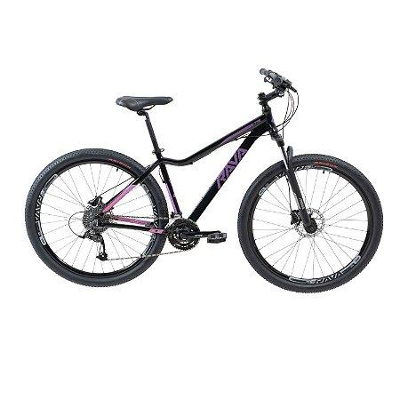 Bicicleta RAVA Nina Aro 29/30V Preto/Violeta - Tam. 15,5