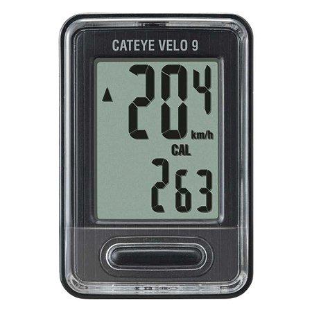 Velocimetro CATEYE Digital 9F Velo 9 Preto