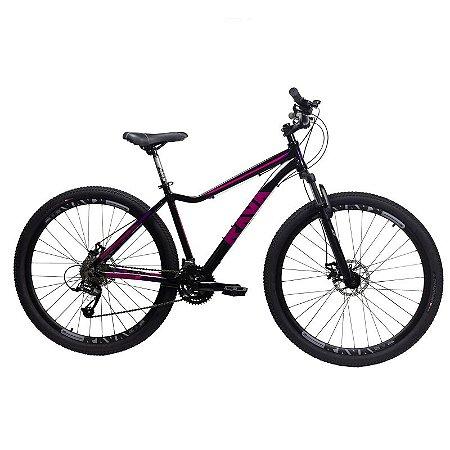 Bicicleta RAVA Nina Aro 29/24V Preto/Rosa - Tam. 15