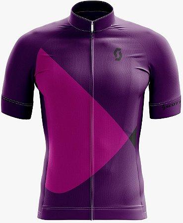 Camisa SCOTT Feminina Roxo/Rosa - Tam. P