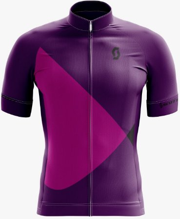 Camisa SCOTT Feminina Roxo/Rosa - Tam. GG