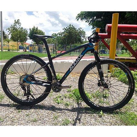 Bicicleta AUDAX Auge 50 Aro 29/ 12V Preto/Azul - Tam. 17