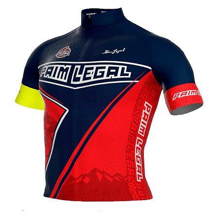 Camisa Paim Legal Pro Azul/Vermelha - Tam. G