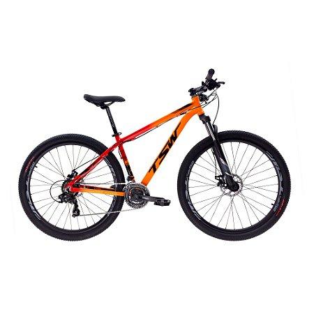 Bicicleta TSW Ride Aro 29/21V  Laranja /Vermelho - TAM. 19