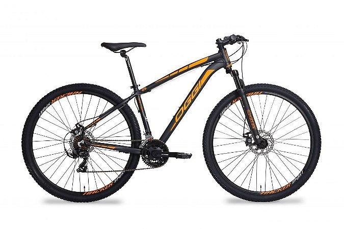 Bicicleta OGGI Hacker Sport Aro 2019 Aro 29/21V Preto/Laranja - Tam. 15