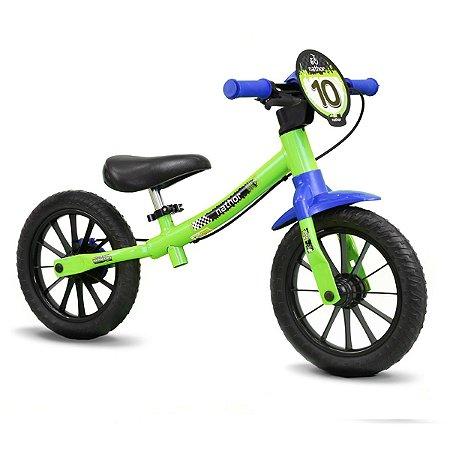 Bicicleta NATHOR Balance Aro 12 Masculina Verde/Azul