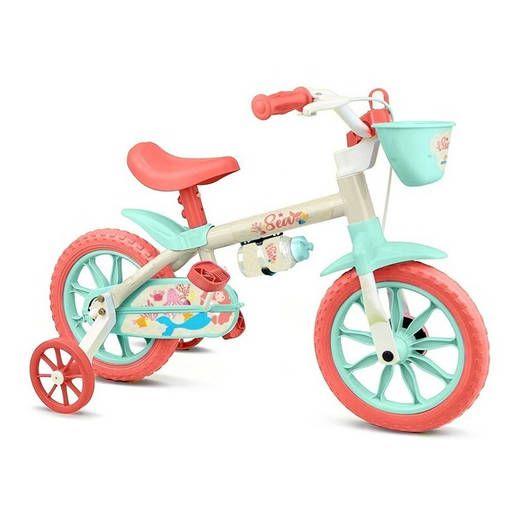 Bicicleta Feminina NATHOR Aro 12 SEA Branco/Verde