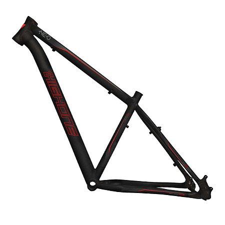 Quadro HIGH ONE NEO Preto/Vermelho Aluminio - Tam. 19